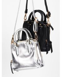 Free People - Metallic Billie Vegan Mini Tote - Lyst