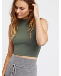 Free People Green Clothes Tops & Tees Crop Tops Open Back Seamless Crop