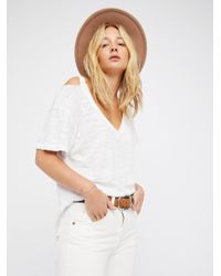 Free People White We The Free Surfs Up Tee