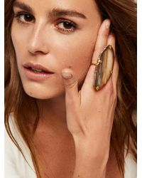 Free People - Multicolor Large Raw Stone Ring - Lyst