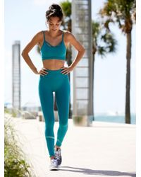 Free People Blue Barely There Leggings