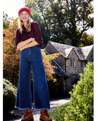 Free People Blue Extreme Carpenter Wide Leg Jeans