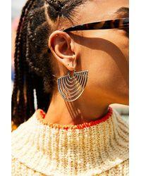 Free People Multicolor Horizon Metal Hoop Earrings