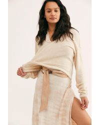 Free People Brown Sasha Tie Belt By Fp Collection