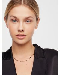 Free People - Metallic Essential Stone Necklace - Lyst