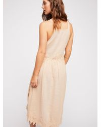 Free People - Pink In Your Arms Midi Dress - Lyst