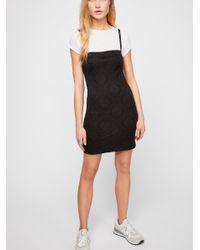 Free People - Black All Nighter Jacquard Mini Dress - Lyst