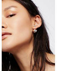 Free People Multicolor Double Sided Orbit Stud Earrings