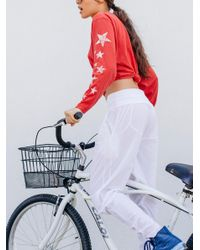 Free People White Cardio Woven Hareem Pant By Fp Movement