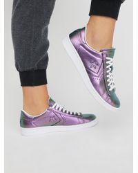 Free People | Purple Viola Leather Low Top Sneaker | Lyst