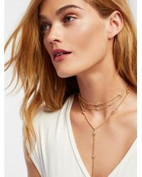 Free People - Metallic Pretty Lover Delicate Bolo - Lyst