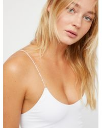Free People White 2 In 1 Seamless Cami