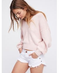 Free People - Pink Perfect Day Pullover - Lyst
