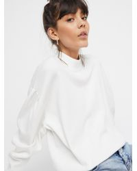 Free People - White Wake Me Up Sweater - Lyst