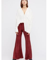 Free People - Red The Minx Velvet Flare - Lyst