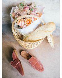 Free People - Pink Velvet At Ease Loafer - Lyst