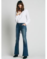 Free People | Blue 5 Pocket Skinny Flare | Lyst