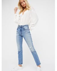 Free People | Blue 501 Skinny Jeans | Lyst