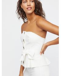 Free People White Forever Yours Corset Top