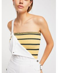 Free People Multicolor Seamless Striped Tube