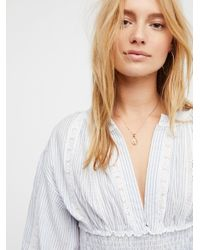 Free People - Blue You Look Good Top - Lyst