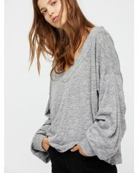 Free People | Gray Lucky Charm Pullover | Lyst