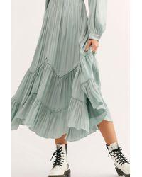 Free People Green I Need To Know Shiny Maxi Dress