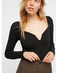 Free People - Black We The Free Gisele Layering Top - Lyst
