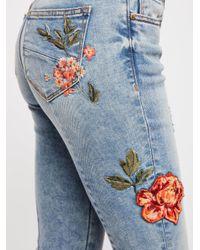 Free People - Blue Driftwood Roxy Crop Flare Jeans - Lyst