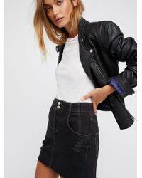 Free People - Black Corsette Mini Skirt - Lyst