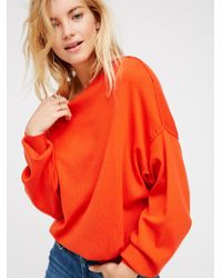 Free People Red The Check Sweater