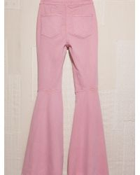Free People Pink Just Float On Flare Jeans