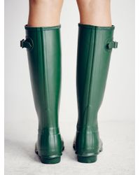 Free People - Green Hunter Wellies - Lyst