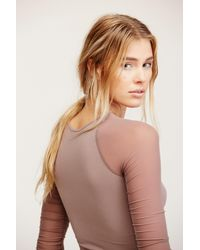 Free People Multicolor Scrunch Sleeve Seamless