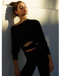 Free People - Black Superwoman Sweat - Lyst