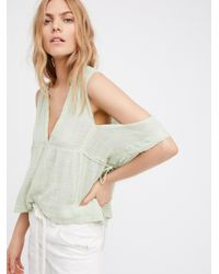 Free People - Green Fp One Gauze Indus Top - Lyst
