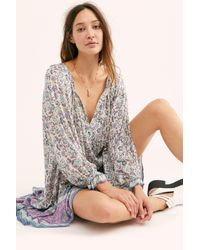 Free People Blue Dahlia Tunic Dress By Spell And The Gypsy Collective