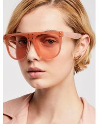 Free People Pink No Shade Sunglasses