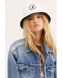 Free People White Kangol Cotton Bucket Hat