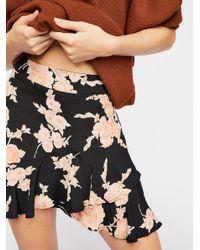 Free People Black Michelle Mini Skirt