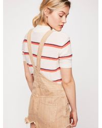 Free People - Natural Torn Up Jumper - Lyst