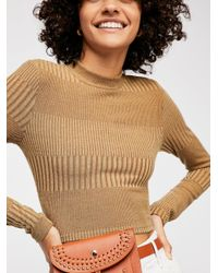 Free People Multicolor Auto Pilot Cropped Long Sleeve