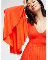 Free People - Orange Camilla Dress - Lyst