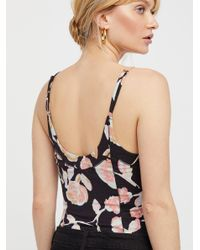 Free People - Black Next Up Corset Cami - Lyst