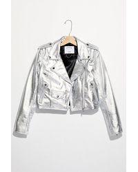 Urban Outfitters Metallic Mercy Crop Jacket