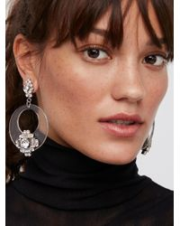 Free People Multicolor Lucite Crystal Earrings