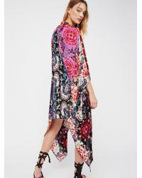 Free People - Multicolor Little Wing Mix Print Kimono - Lyst