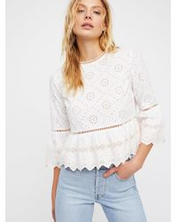 Free People White Clothes Tops & Tees Merci Beaucoup Top
