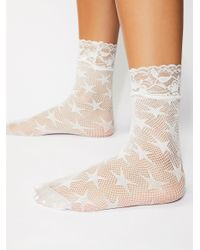 Free People - White Count Your Stars Net Anklet By Look From London - Lyst