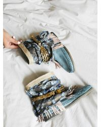 Free People - Blue Ibiza Moccasin Boot - Lyst